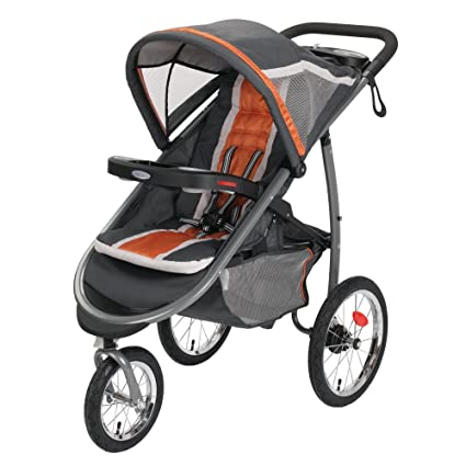 Graco FastAction Fold Jogger Click Connect Stroller, Tangerine by ...