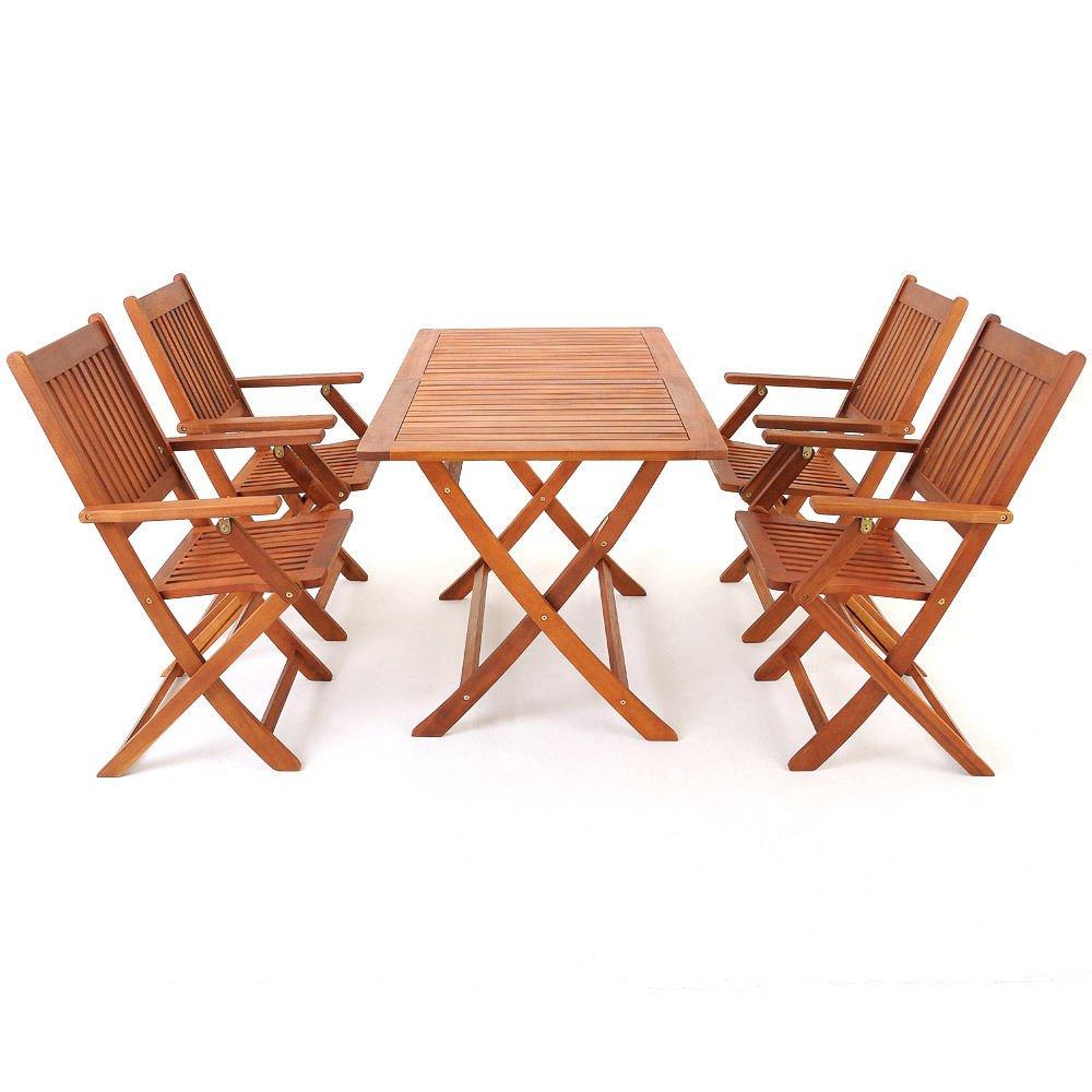 SSITG Sitzgruppe Sitzgarnitur Holz Gartenset Gartengarnitur Gartenmöbel Tisch