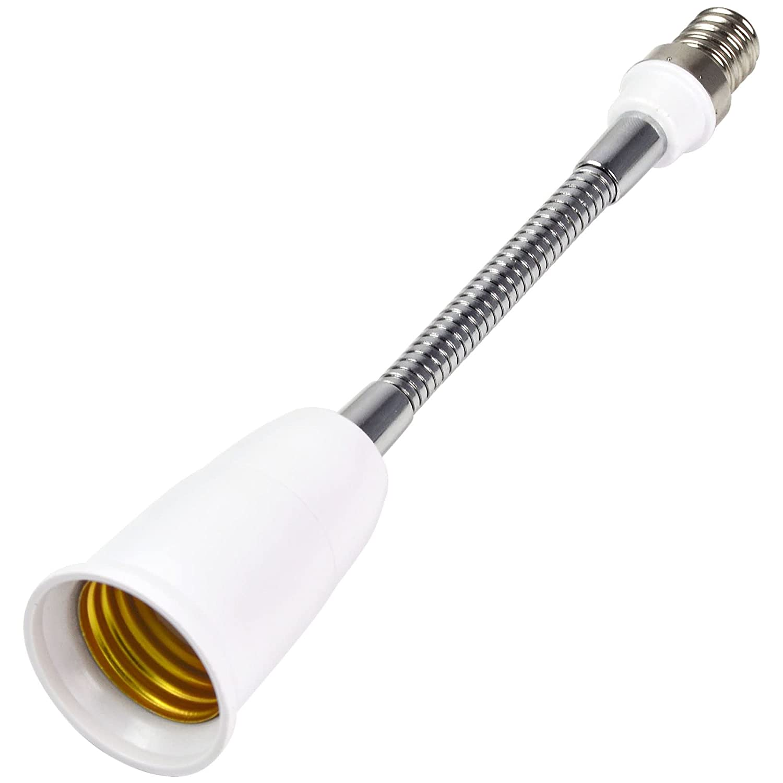 MENGS/® 189mm E14 auf E27 Flexibler Lampe Sockel Adapter E14 auf E27 Licht Leuchtmittel Fassung verl/ängern Adapter