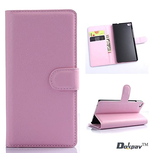 161 opinioni per Dokpav® Custodia per cellulare di cuoio, modello Huawei P8,custodia per