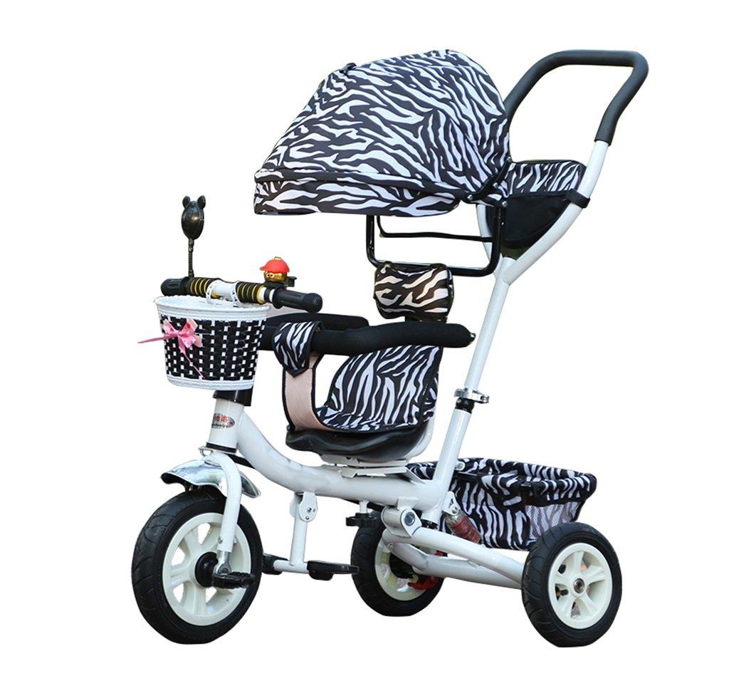 KANGR-子ども用自転車 三輪車の赤ちゃんキャリッジバイク子供のおもちゃのトロリーインフレータブルホイール自転車3つの車輪、回転可能な座席/ Foldable(少年/少女、1-3-5歳) B07BTTBCNG