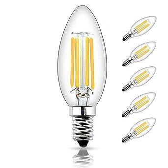 Avec Bonlux Ses Blanc D'intensité E14 Ampoules Compatibles Flamme W Bougie Led Dimmable Vintage Vis Variateur Filament Chaud Culot À 4 uFJc3TKl1