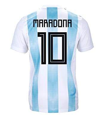 4a18fc30d77 adidas Maradona #10 Argentina Official Youth Home Soccer Jersey World Cup  Russia 2018 (YXL