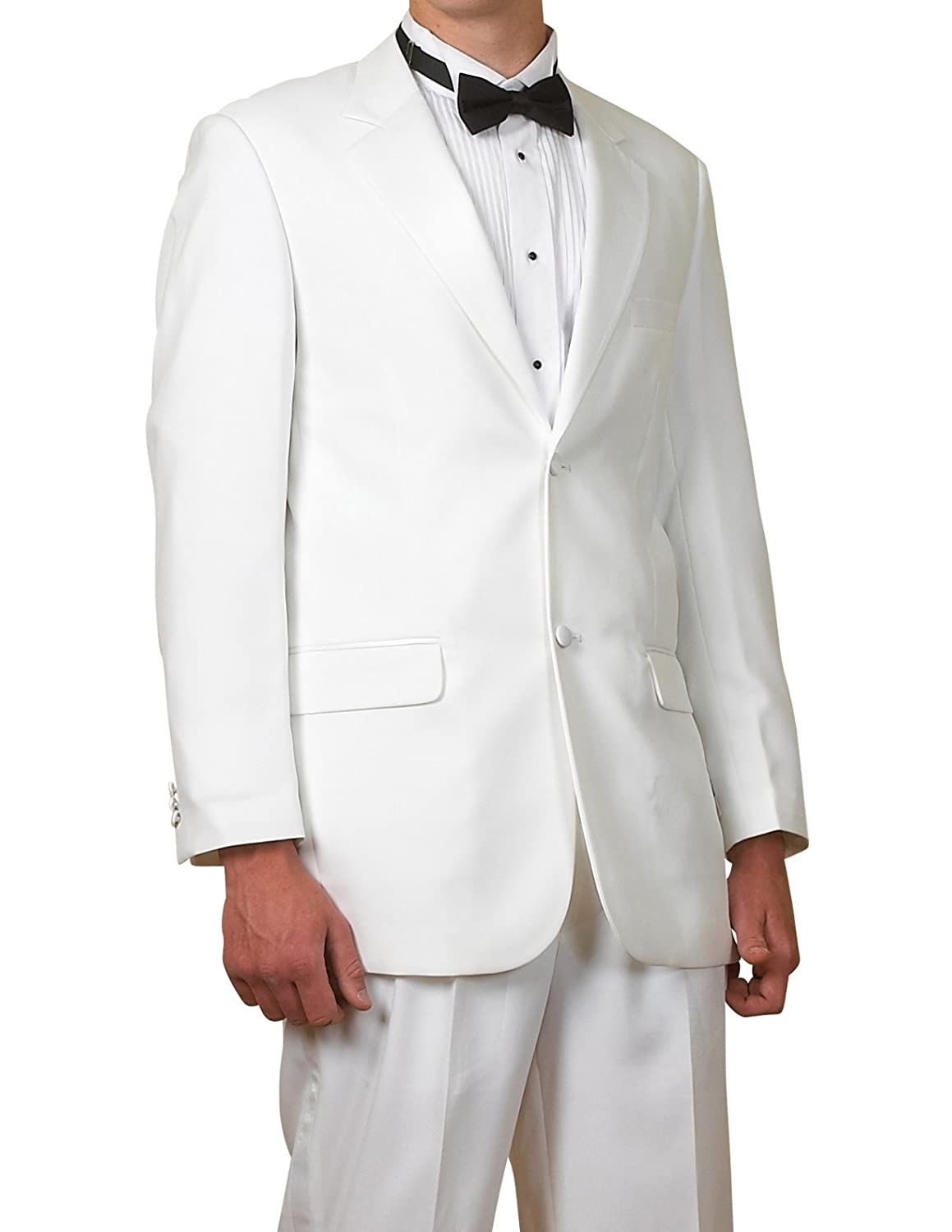 New Mens White 2 Button Tuxedo Suit - Includes Jacket and Pants at ...