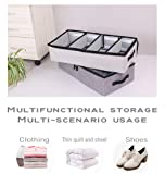 AARainbow 2 Packs Under Bed Clothes Shoes Storage