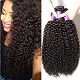 ALI JULIA Wholesale 3-Pack Malaysian Virgin Curly Hair Weave Real Human Hair Weft Extensions Cheap Bundle Hair Products Natural Color 95-100g/pc(8 10 12 inch)