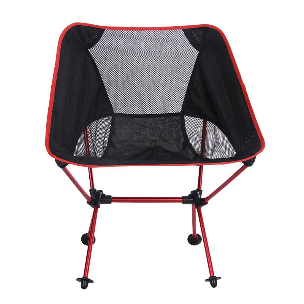 Homelx Mesh Klappstuhl Outdoor Klappstuhl Portable Moon Stuhl Leichte Aluminiumlegierung Angeln Stuhl Camping Klappstuhl