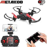 Metakoo Mini Drone for Kids, Quadcopter with WiFi FPV HD Camera, Altitude Hold, 4 Channels 6-Axis Gyro, Headless Mode, One-Key Takeoff/Landing/ Return, Trajectory Flight, Gravity Sensor, 3D Flips, M2