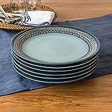 Teal Medallion Dinner Plates, Teal, Set of 6