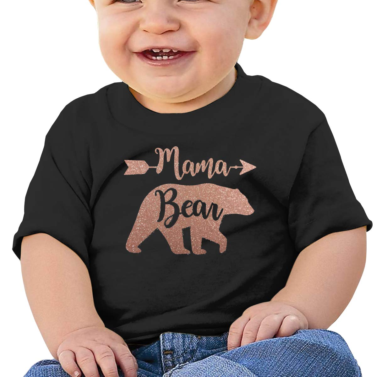 Mama Bear Baby T-Shirt Little Baby Cotton T Shirts Crew Neck Tops for 6M-2T Baby