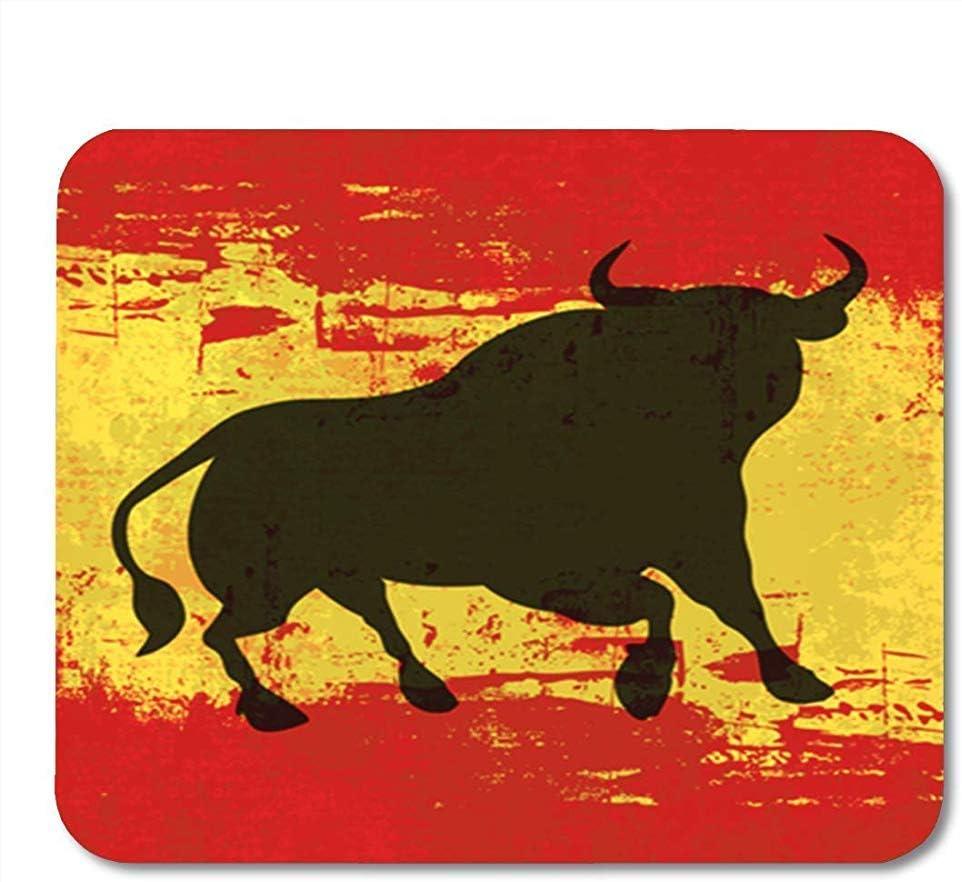 Alfombrilla de ratón Alfombrilla de ratón Alfombrilla de ratón para Juegos Toro Rojo español Bandera de España Grunged Respaldo de Goma Antideslizante Alfombrilla de ratón Alfombrilla de ratón: Amazon.es: Electrónica