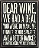 Primitives by Kathy 27179 Box Sign, 4'' x 5'', Dear Wine…