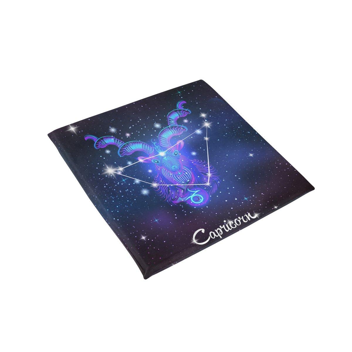 Constellation Zodiac Sign Capricorn Memory Foam Chair Pads Car Seat Cushion,16 x 16 inches