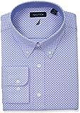 Nautica Men's Classic Fit Performance Print Button Down Collar Dress Shirt, Blue