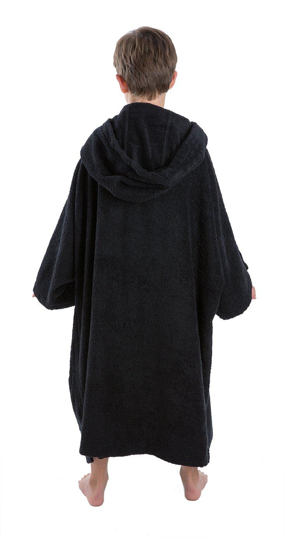 87434b7393 Dryrobe Kids Beach Towel Changing Robe Change Poncho - Black (Medium)   Amazon.co.uk  Sports   Outdoors