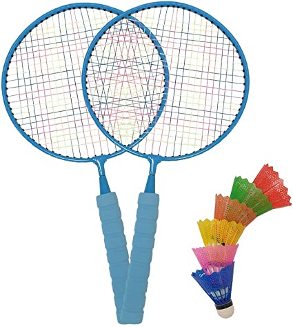 Net 2 Player Tennis /& Badminton Set for Kids incl Ball and Shuttlecock Racket