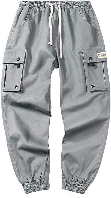 Pantalones Hombre Chandal Pantalon Deporte Hombre Color Sólido con ...