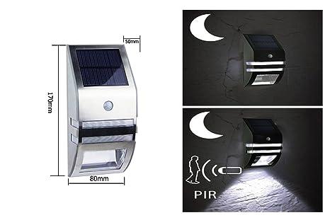 Worled lampada solare con batteria al litio da parete impermeabile