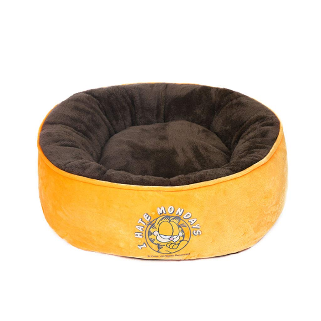 orange 70cm orange 70cm LZY pet bed- Removable And Washable Medium Sized Kennel Mat, Warm Winter Thickened Pet Dog Bed (color   orange, Size   70cm)