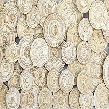 New Modern Design 3D Wood Texture Living Room TV Background Wall Decorative Art Wallpaper