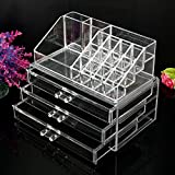 Acrylic Clear Cosmetic Makeup Jewelry Organiser Holder Box Storage Insert Drawer