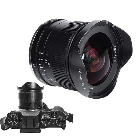 Lente de cámara, 12mm F2.8-F16 Lente Fija Manual Gran Angular de ...