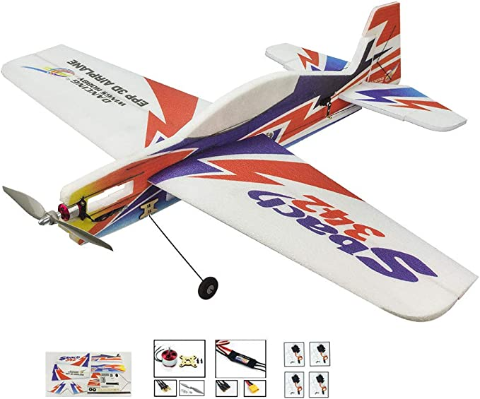 DW fun Actualización del avión acrobático RC Sbach342 Flying Airplane, 39 Wingspan 3D EPP Plane RC Aircraft Fixed Wing, DIY Electric 4CH RC Airplane (Kit + Motor + ESC + Servo): Amazon.es: