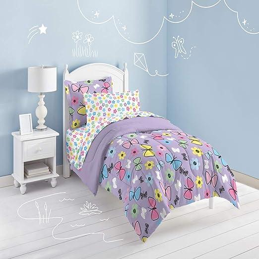 Edredón Toddler Girls Azul Mariposas