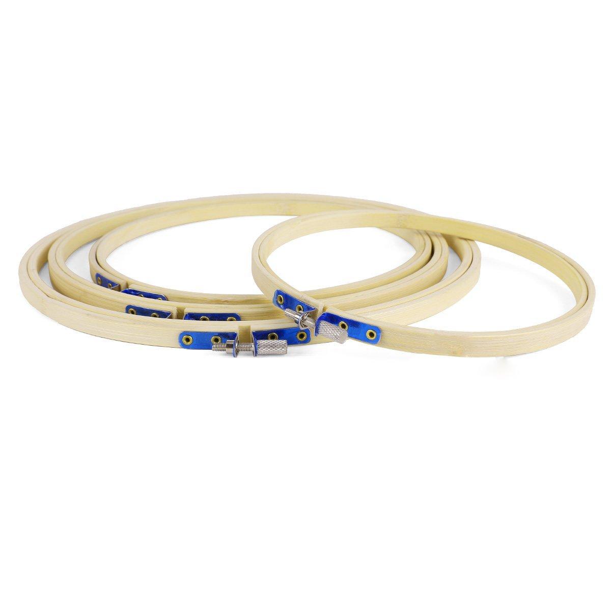 4 x cerchio punto bambu ricamo 17 20 23 26cm R SODIAL