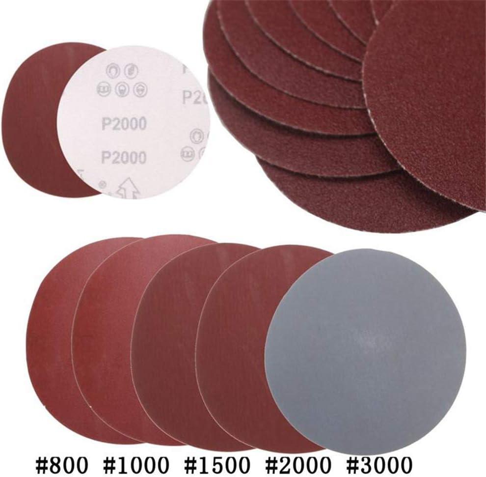 Asdomo Discos de papel de lija 25 unidades, grano 800 1000 1500 2000 3000