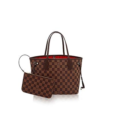 855d45c4972e Amazon.com  Louis Vuitton Damier Ebene Canvas Neverfull PM N41359  Shoes