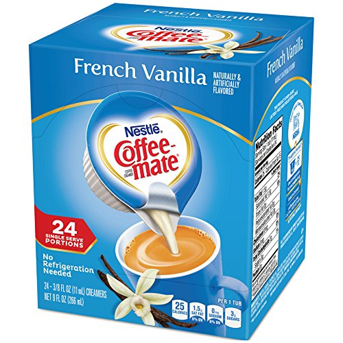Coffee-mate Coffee Creamer Liquid Singles, French Vanilla, 24 Count (Pack of - Coffee Creamer Singles