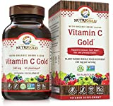 Nutrigold Vitamin C Gold (Organic, Food-Based), 240 mg, 90 veg. capsules