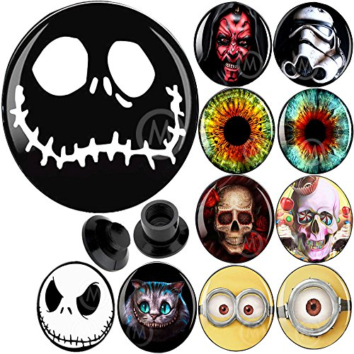 2g 2 gauges Plugs Flesh Tunnels Double Flare Taper Skull 2g 2 Gauges 6mm 8 6 4 2 0 00 Gauge Plugs Tunnels -