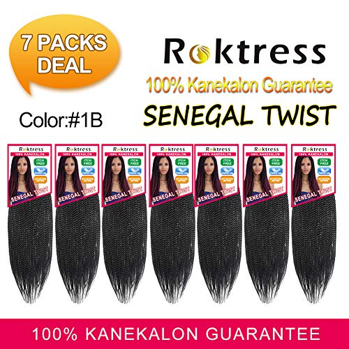 Roktress Senegalese Twist Hair Kanekalon Synthetic Crochet Twist Braids Braiding Hair (18