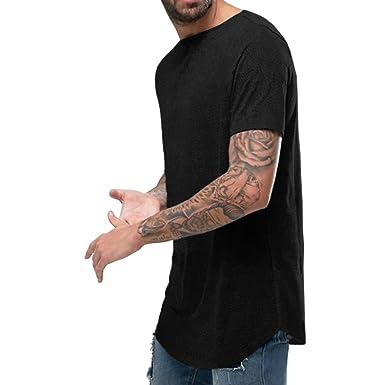 4c86fd36 OA ONRUSH AESTHETICS Men's Super Longline T-Shirt Curved Hem with ...