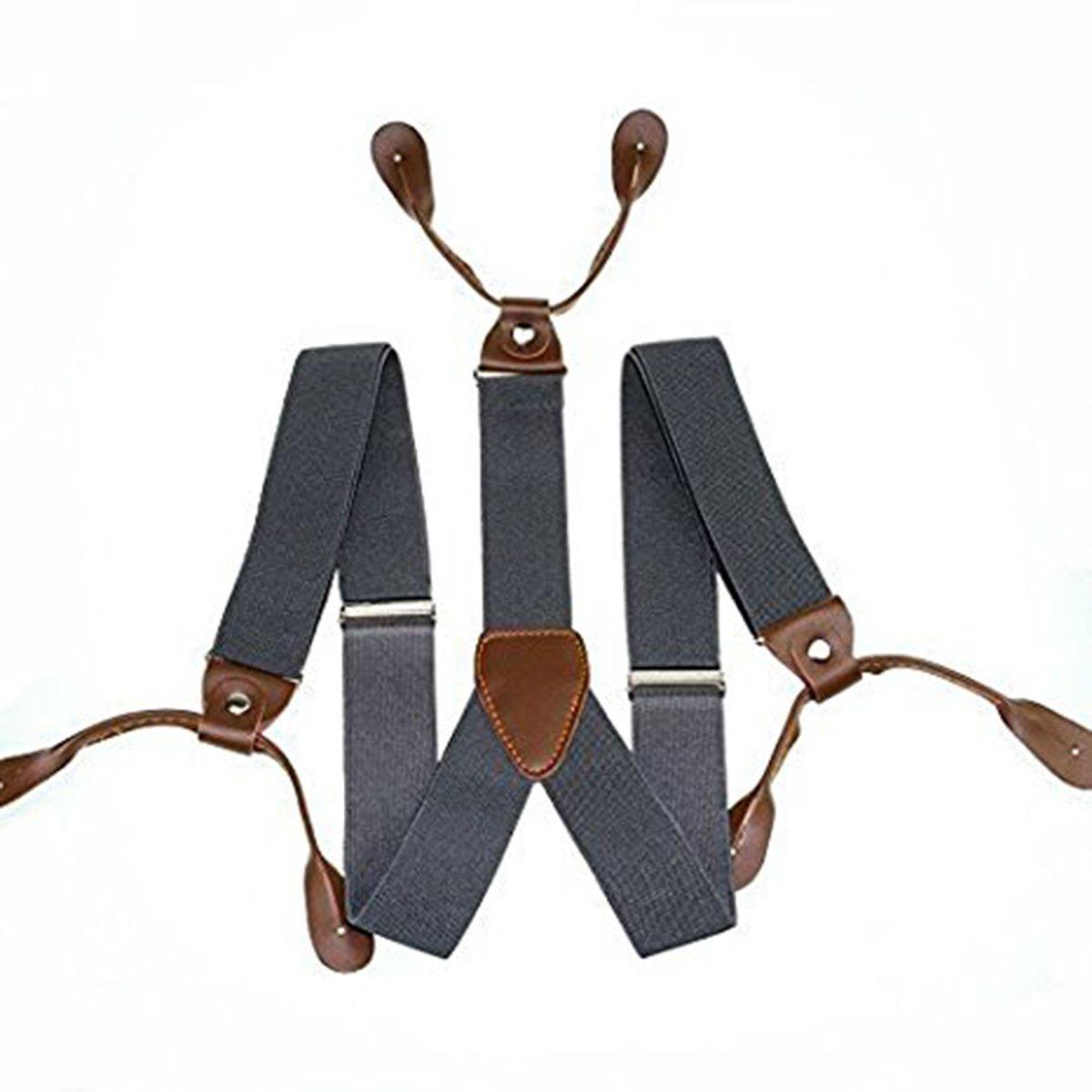 Kids Braces Lycra Spandex Button Hole Y Shaped Back Adjustable Elasticated Braces Suspenders 25mm