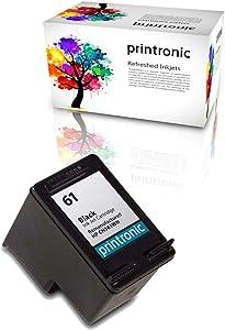 Printronic Remanufactured HP 61 Ink Cartridge for HP Envy 4500 5530 Deskjet 2540 1510 2050 3050 OfficeJet 4630 Printers (1 Black)