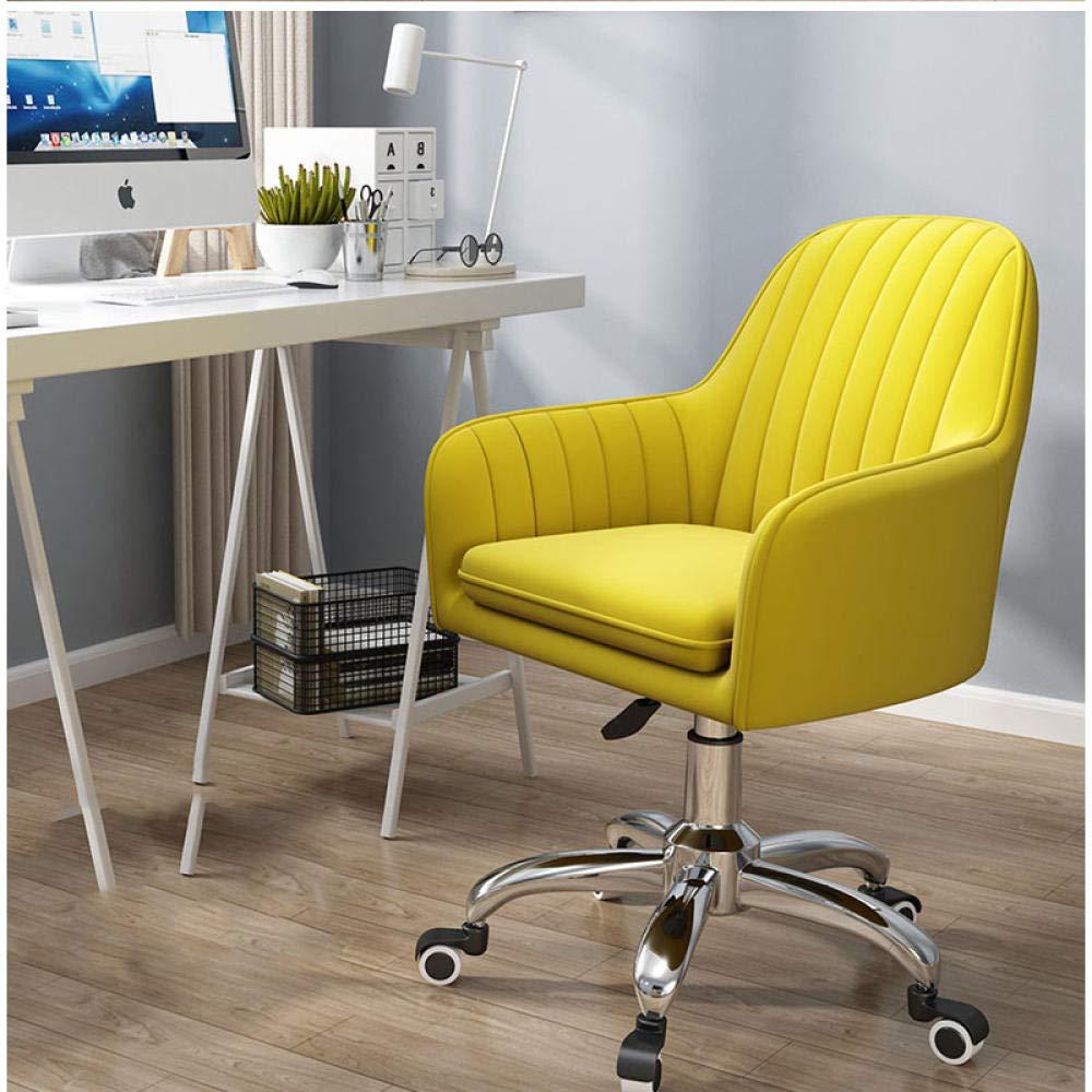 W-PLEIY Kontor svängbar fri stol, justerbar spellyftstol, 360 ° vridbar sammet kontorsstol, ergonomisk mittrygg datorsäte, maximal belastning 150 kg – ljusblå gUL