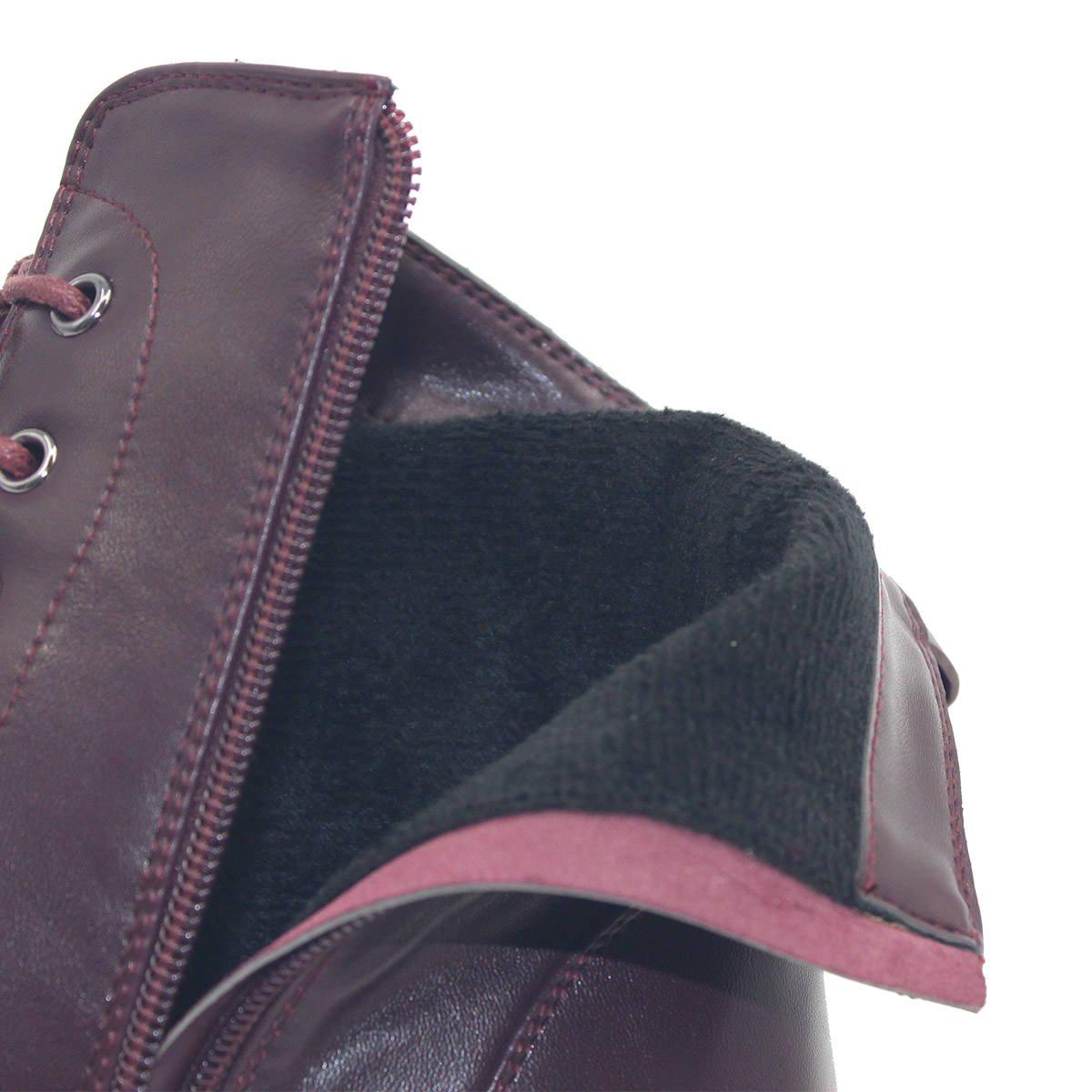 ZAPROMA Frauen Herbst Warmside Warmside Warmside Zipper Kampfstil Lace Up Onkel Stiefely e9fa6d
