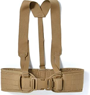 product image for USMC Adjustable Padded Tactical Sub Belt with Suspenders MOLLE II Color: Coyote Brown