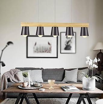 Japan Stil Einfache Holz Pendelleuchte Moderne Schwarz Weiß Lampenschirm  Holz Pendelleuchten Esszimmer Hängelampe Kronleuchter ( Farbe