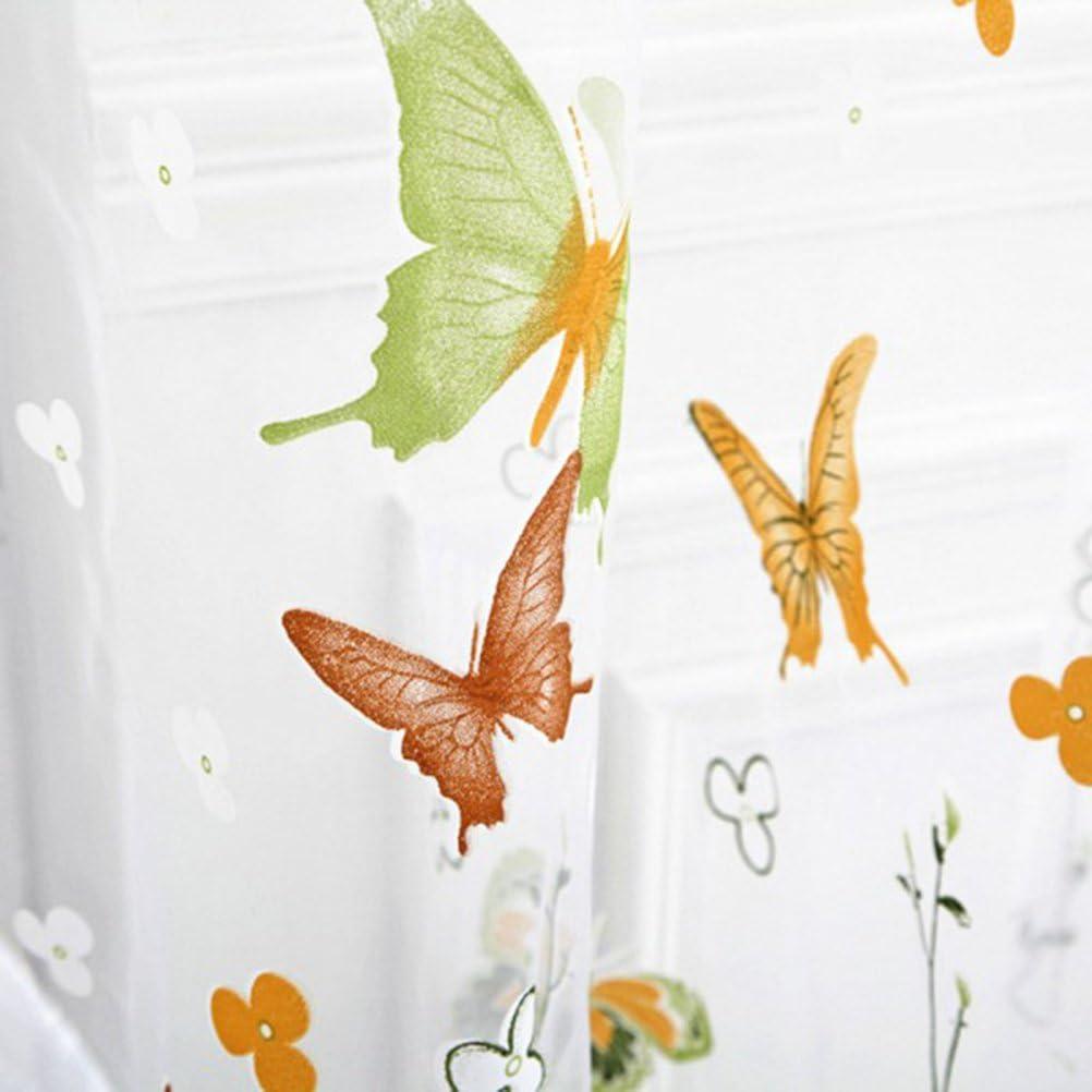 gelb und gr/ün VORCOOL Transparente Voile Vorh/änge Schmetterling Gardine Schal Dekoschal f/ür Schlafzimmer Wohnzimmer Gr/ö/ße 100 x 200 cm