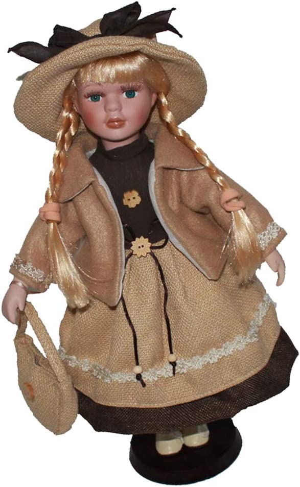 Victorian Porcelain Doll Collectible Beautiful Figurine Home Ornament Crafts