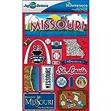 Reminisce Jet Setters Dimensional Stickers-Missouri