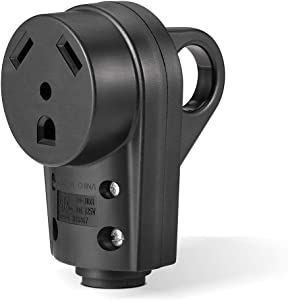 BougeRV 30 AMP RV Receptacle Plug Electrical Plug Adapter with Handle (Female Plug)