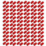 uxcell 200pcs 8mm Dia Red Rubber Thread Round Cabinet Chair Leg Insert Cover Protector