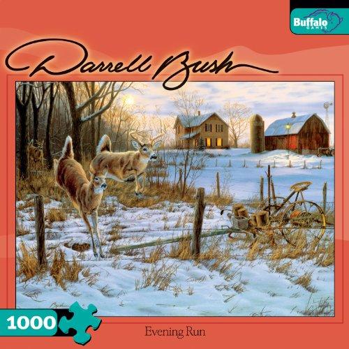 Run 1,000 Piece Puzzle (Darrell Bush Evening Run 1000 Piece Jigsaw)