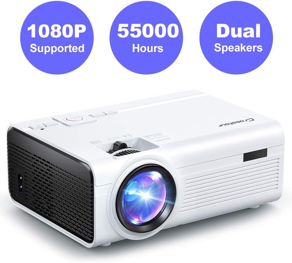 Crosstour Proyector Mini Proyector Portátil Soporte Full HD 1080P ...
