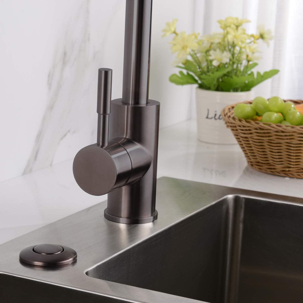 BESTILL Garbage Disposal Sink Top Dual Outlet Air Switch Kit,Oil Rubbed Bronze/ORB by BESTILL (Image #2)